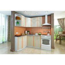 Кухонный гарнитур левый Бланка Белый/Дуб Кремона