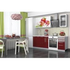 Кухня София Красные яблоки 1,6м