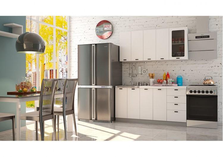 """Кухня """"Олива"""" белая шагрень 1,6 м"""