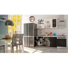"""Кухня """"Олива"""" белая Coffe time / черная Coffe time1,6 м"""