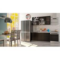 "Кухня ""Олива""  черная Coffe time / черная шагрень 1,6 м"