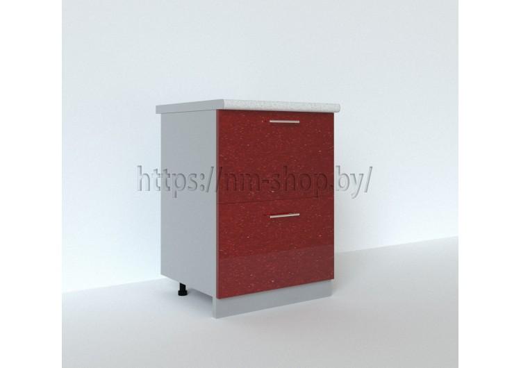 Шкаф нижний 600 (2 больших ящика) ШНГ2Я 600