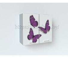 Фотопечать Бабочки  Шкаф верхний ШВ 800