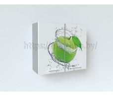 Фотопечать Зелёное яблоко Шкаф верхний  ШВ 800