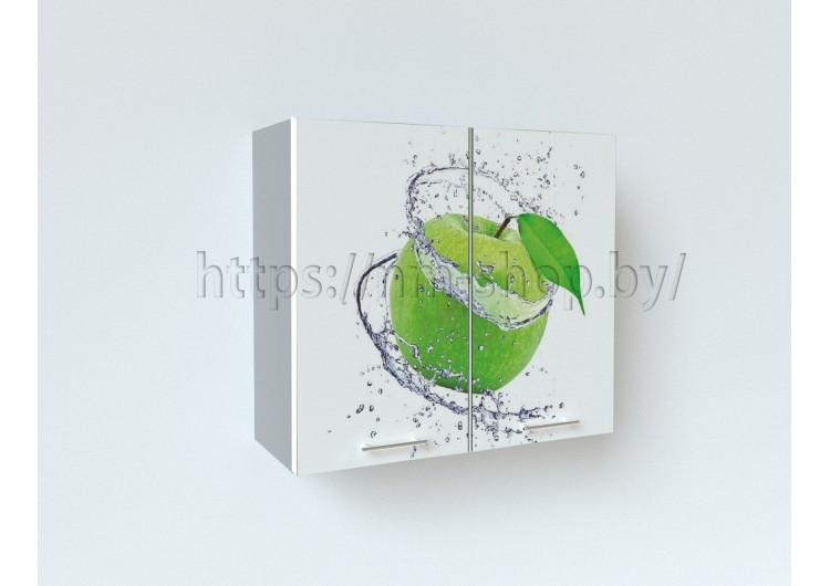 """Фотопечать"""" Зелёное яблоко"""" Шкаф верхний  ШВ 800"""