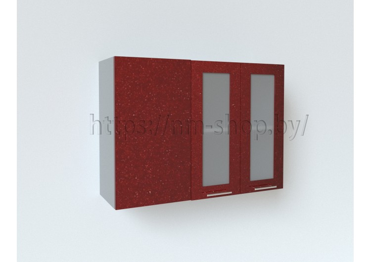 Шкаф верхний угловой прямой стекло ШВУПС 1000