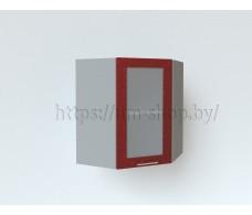 Шкаф верхний угловой стекло высокий ВПУС550х550