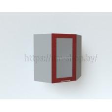 Шкаф верхний угловой стекло ШВУС 600х600