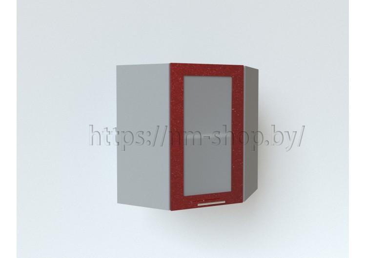 Шкаф верхний угловой стекло ШВУС 600х600 h-920мм