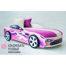 Детская кровать-машина Бондмобиль розовый