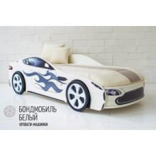 """Детская кровать-машина Бельмарко """"Бондмобиль белый"""""""