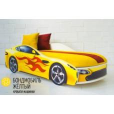 """Детская кровать-машина Бельмарко """"Бондмобиль желтый"""""""