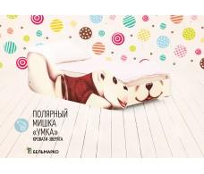 Детская кровать «Полярный мишка - Умка»+ матрас Дельта