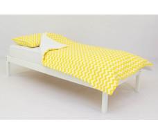 Детское постельное белье Зигзаги желтые
