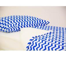 Детское постельное белье Зигзаги синие
