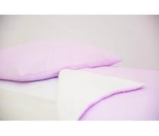 Детское постельное белье Полоски лаванда
