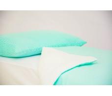 Детское постельное белье Полоски мятные