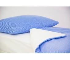 Детское постельное белье Полоски синие