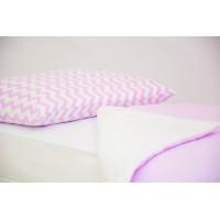 Детское постельное белье Зигзаги лаванда - полоски лаванда
