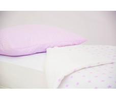 Детское постельное белье Полоски лаванда - звезды лаванда