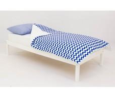Детское постельное белье Полоски синие - зигзаги синие