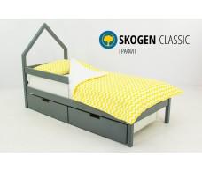 Детская кровать-домик мини  Svogen графит