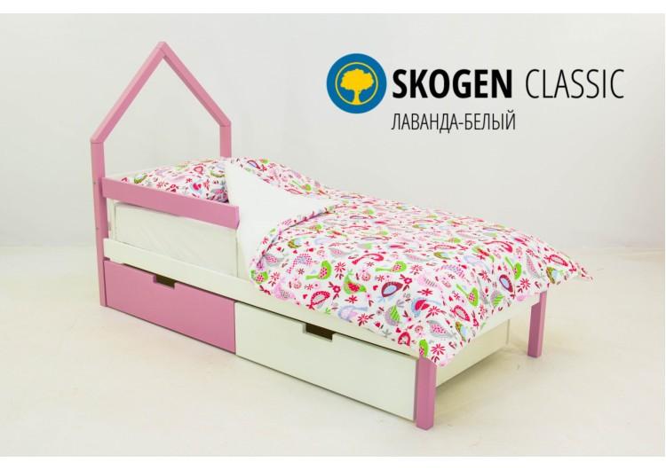 Детская кровать-домик мини Svogen лаванда-белый
