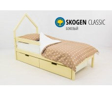 Детская кровать-домик мини  Svogen бежевый