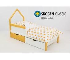 Детская кровать-домик мини  Svogen дерево-белый