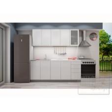"""Кухня """"Олива"""" белый металлик 2,0 м"""