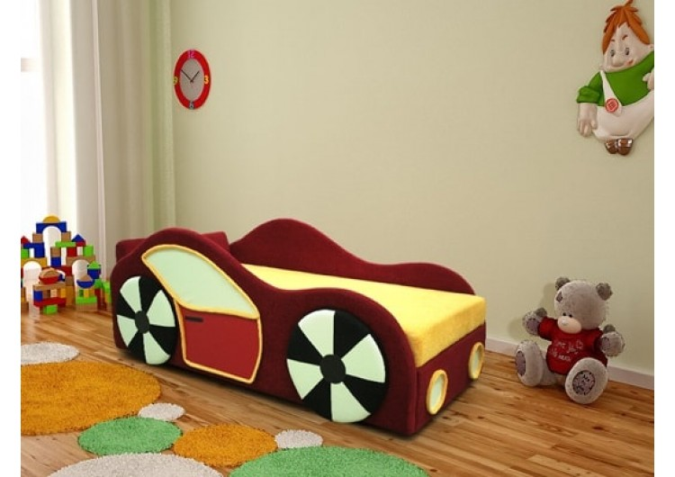 Диван для детской «Машинка» (аппликация с 2-х сторон)