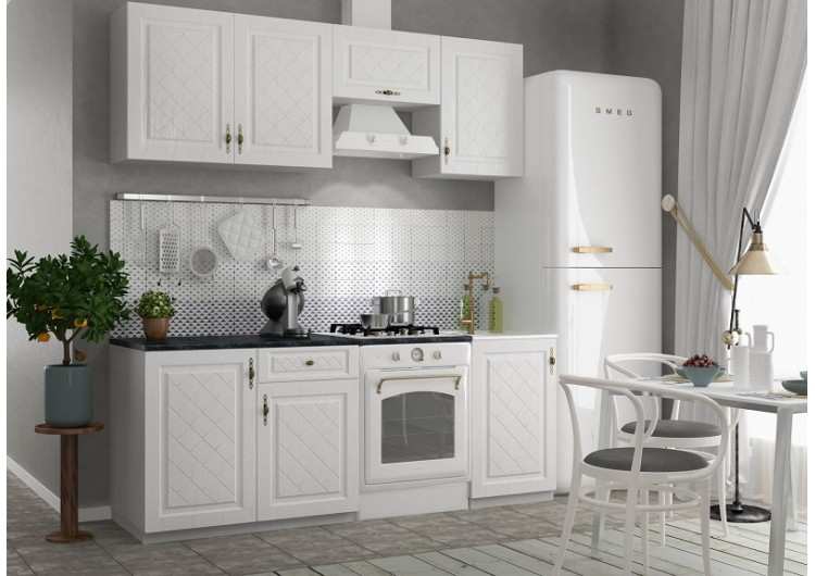 Кухня ДСВ Мебель Гранд Белый 2,1 м