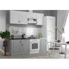 Кухня ДСВ Мебель Гранд Белый/Пепел 2,1 м