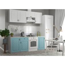 Кухня ДСВ Мебель Гранд Белый/Зеленый 2,1 м
